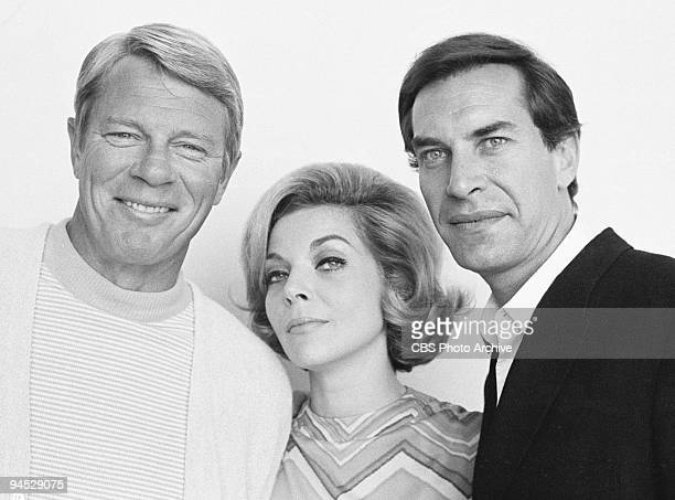Impossible featuring from left Peter Graves as James Phelps Barbara Bain as Cinnamon Carter and Martin Landau as Rollin Hand May 16 1967