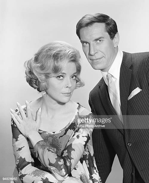 Impossible gallery session photo featuring from left Barbara Bain as Cinnamon Carter and Martin Landau as Rollin Hand April 11 1967