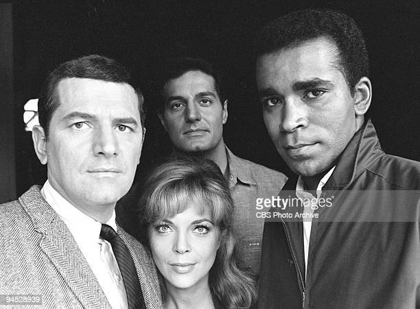 Impossible gallery session photo featuring from left Steven Hill as Daniel Briggs Barbara Bain as Cinnamon Carter Peter Lupus as Willy Armitage and...