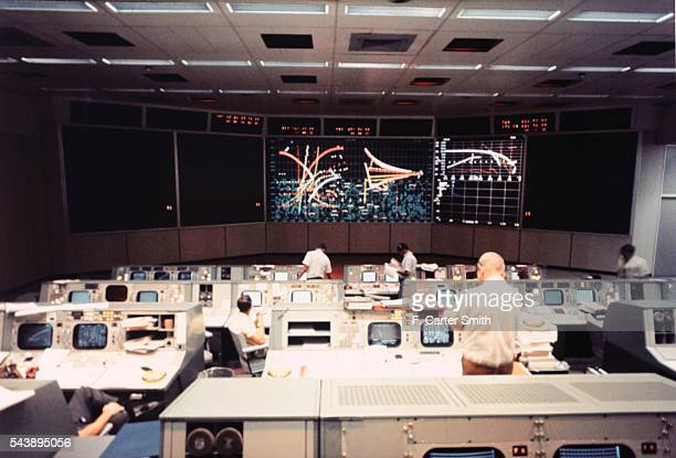 Mission Operations Control Room of Manned Spacecraft Center
