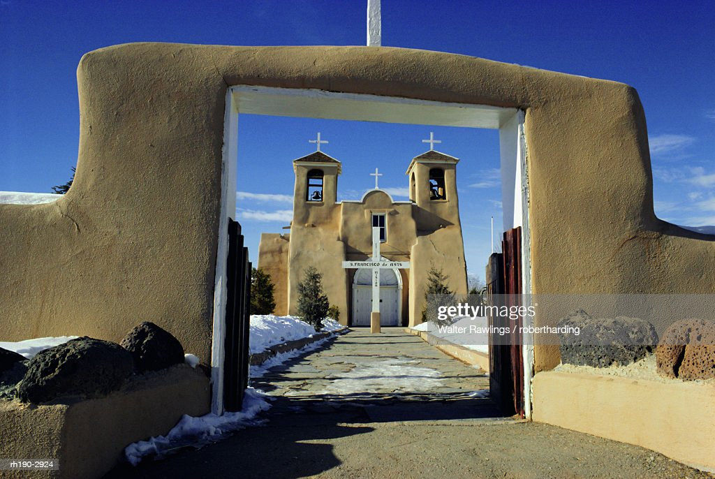 Mission San Francisco de Asis, Ranchos de Taos, New Mexico, USA : Foto de stock