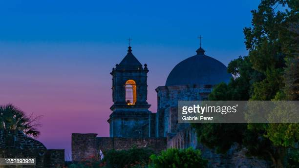 mission san jose: a unesco world heritage site - catholicism stock pictures, royalty-free photos & images