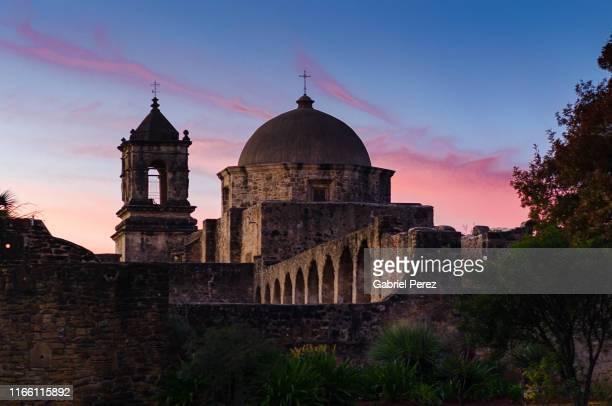mission san jose of san antonio, texas - san antonio stock pictures, royalty-free photos & images