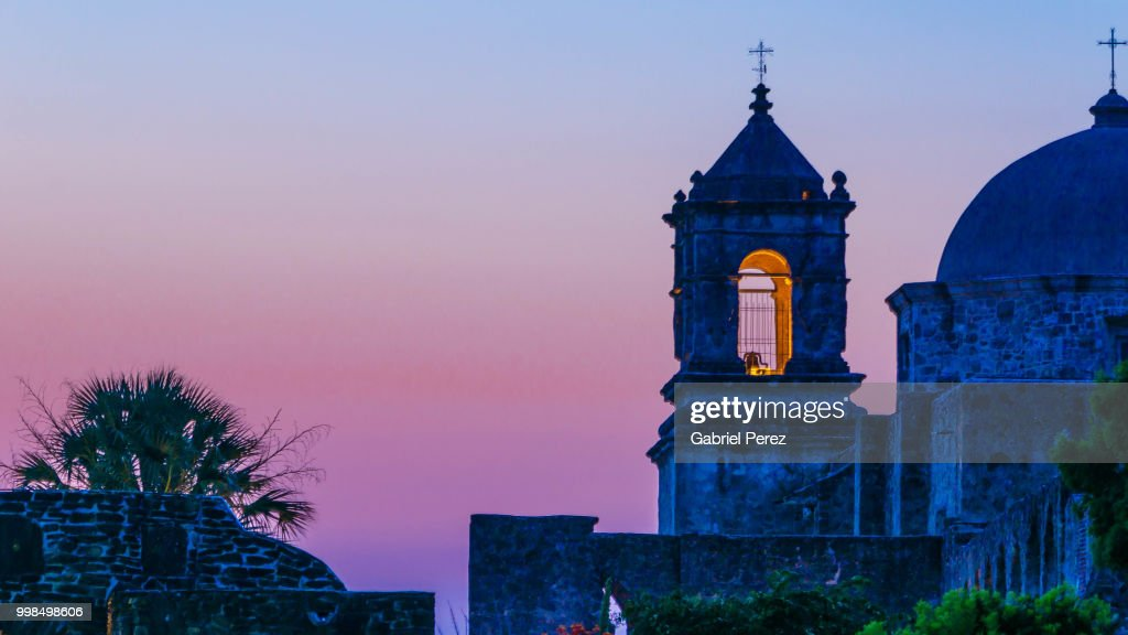 Mission San Jose of San Antonio, Texas : Foto de stock