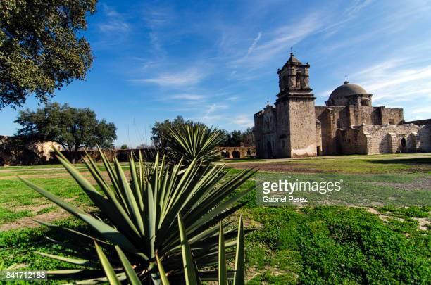 mission san jose y san miguel de aguayo - san antonio texas stock pictures, royalty-free photos & images