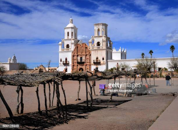 Mission San Xavier Del Bac on the Tohono O'odham Indian Reservation near Tucson Arizona was built by Franciscan missionaries in the late 1700s Today...