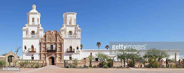 mission san xavier del bac - tucson - tucson stock pictures, royalty-free photos & images