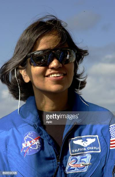 Mission Specialist Kalpana Chawla is shown during the crew's Terminal Countdown Demonstration Test activities on Launch Pad 39A january 2003