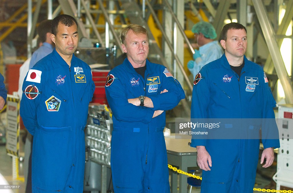 Discovery Crew Preps For First Shuttle Flight Since Columbia : News Photo