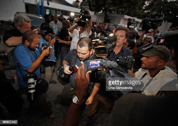Missionaries are released from a Port-au-Prince jail after a Haitian judge granted them bail and told them they could leave the country February 17,...