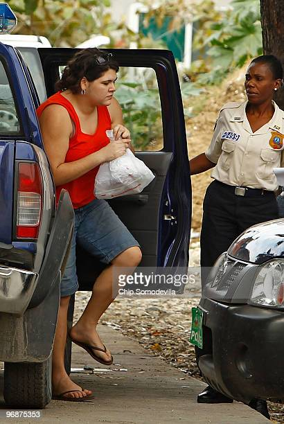 Missionary Charisa Coulter returns to jail after she and her employer Laura Silsby went to court February 19 2010 in PortauPrince Haiti An Idaho...