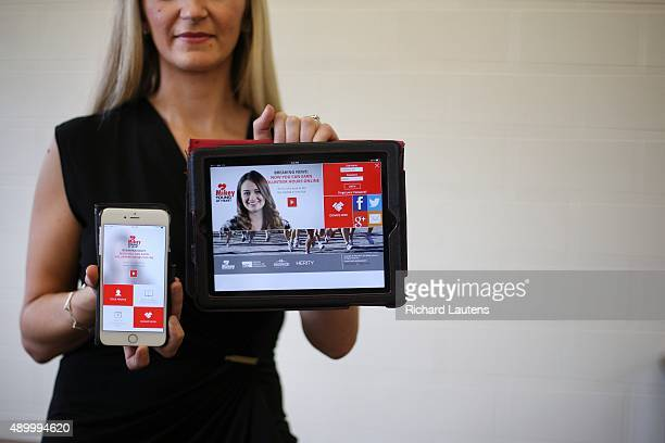 Mississauga Canada September 3 2015 Eva Naumovski is the president of Mikey company behind the app and behind placing defibrillators in public places...