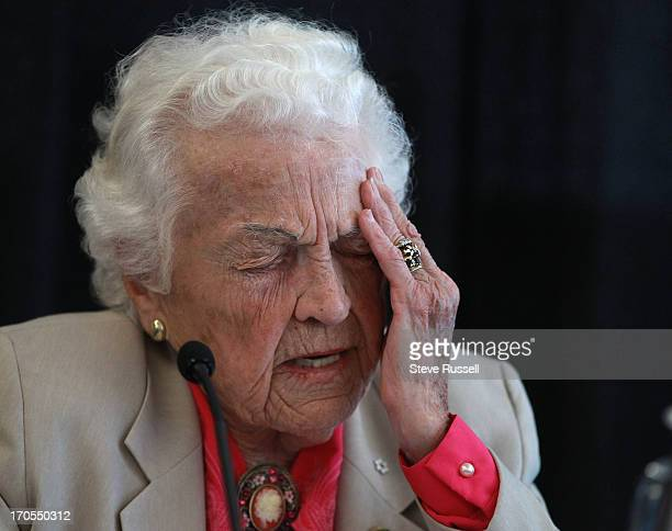 Mississauga Mayor Hazel McCallion holds a press conference after conflict of interest charges against her were dismissed by an Ontario Superior Court...