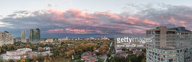 mississauga sunset sky - mississauga stock pictures, royalty-free photos & images