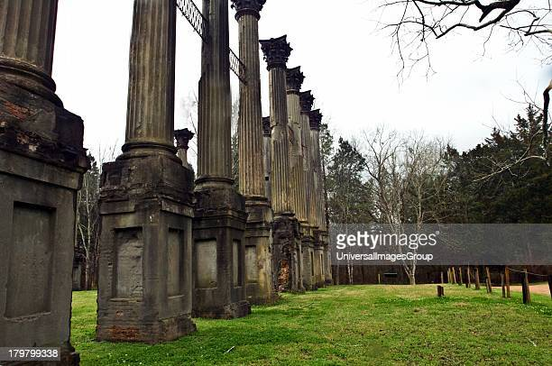 Mississippi Claibourne County Windsor Plantation Ruins 18591861 2600 acres of which remain 23 haunting fluted columns