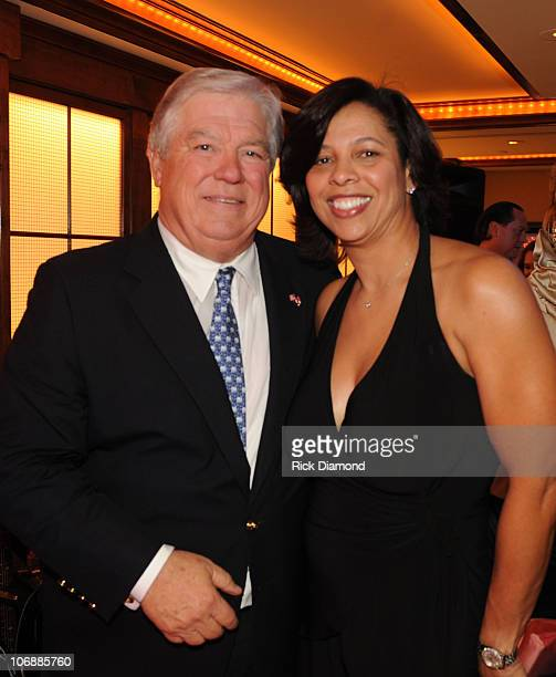 Mississippi Governor Haley Barbour and Angelia BibbsSanders VP Members Services The Recordng Academy at The 3rd Annual 'Mississippi GRAMMY Legacy'...