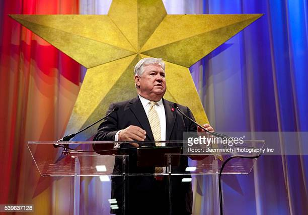Mississippi Governor Haley Barbour, head of the Republican Governor's Association, gives the keynote speech at the biannual Texas Republican...