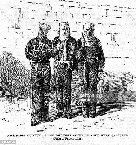 Mississippi KuKlux in the Disguises in which They Were Captured Magazine Illustration Published in Harper's Weekly