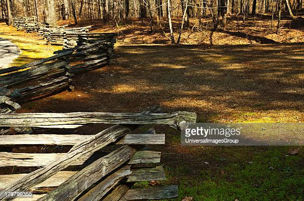 Mississippi, Natchez Trace Parkway, Jeff Busby Park Zigzag Fence.