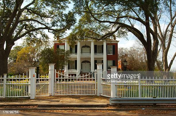 Mississippi Natchez West Side Rosalie on bluff overlooking Mississippi River named in honor of French Duchess of Pontchartrain Federal style...
