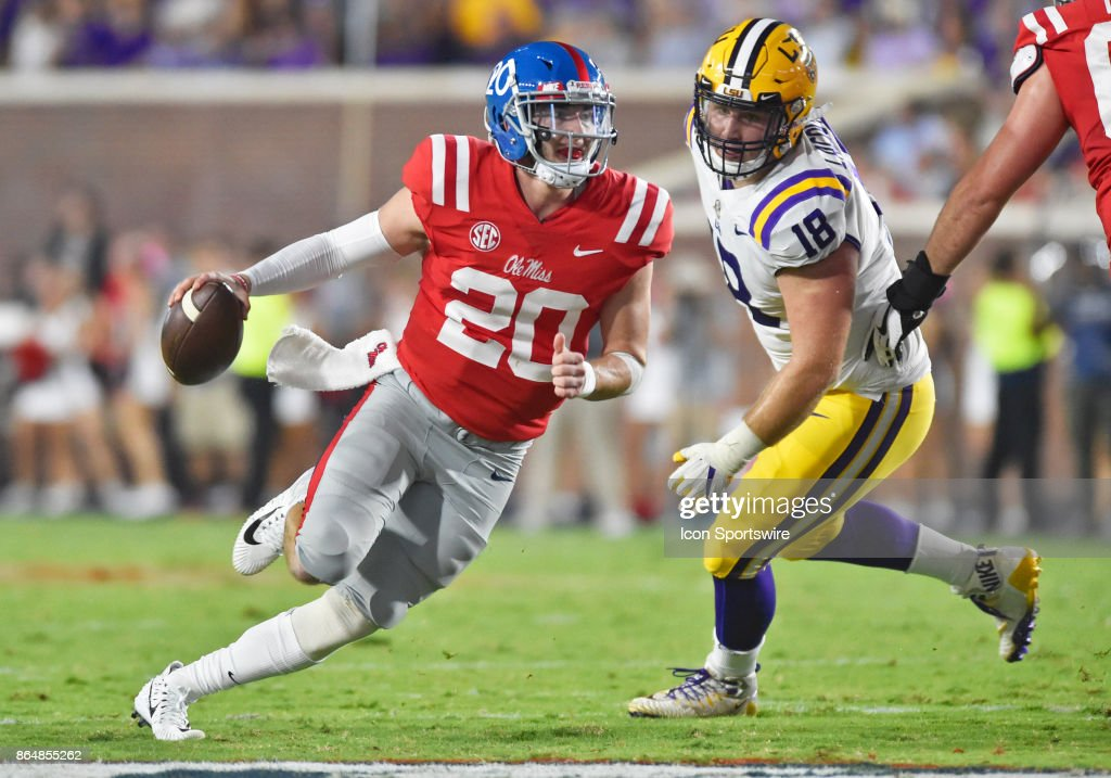 COLLEGE FOOTBALL: OCT 21 LSU at Mississippi : News Photo