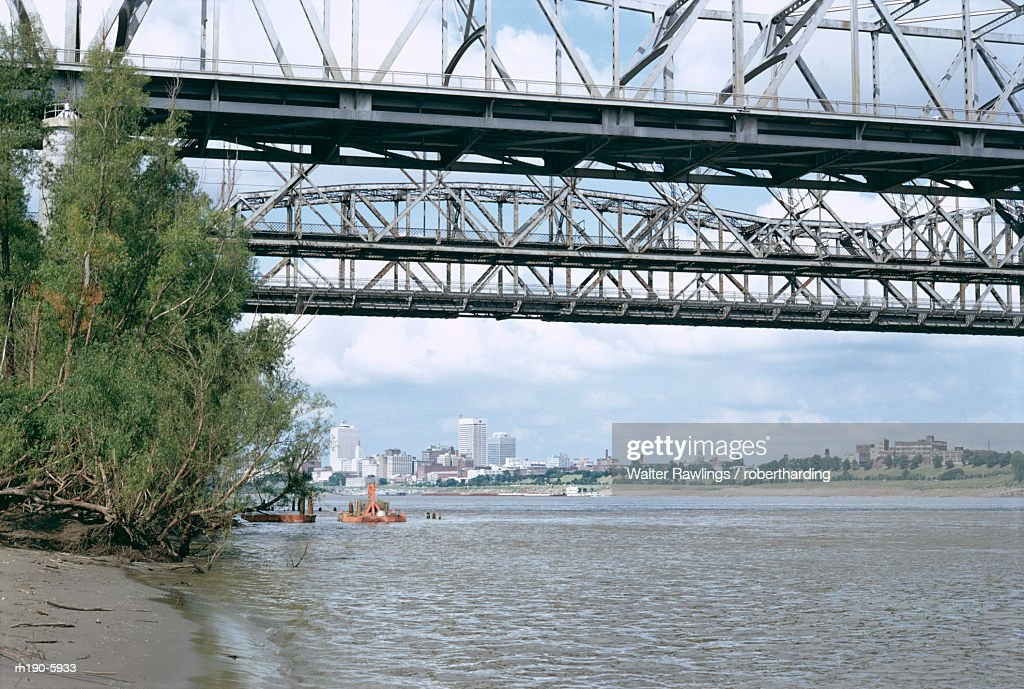 Mississippi River, Memphis, Tennessee, United States of America (U.S.A.), North America : Foto de stock