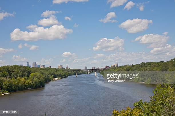 Mississippi River, Minneapolis and St. Paul, Minnesota, Midwest, USA