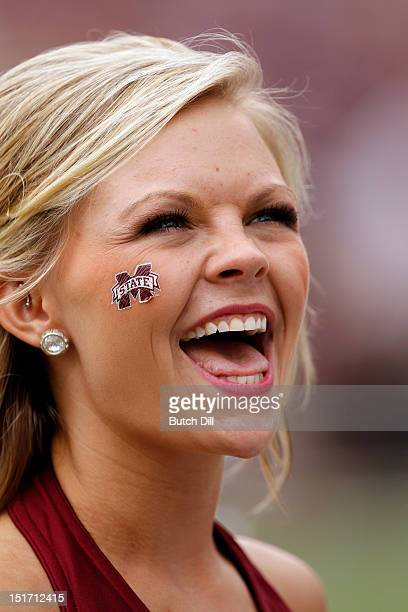 Mississippi State Bulldogs dance team in the fourth quarter of a NCAA college football game on September 8 2012 at Davis Wade Stadium in Starkville...