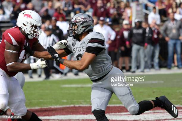 Mississippi State Bulldogs defensive end Montez Sweat during the game between the Arkansas Razorbacks and the Mississippi State Bulldogs on November...