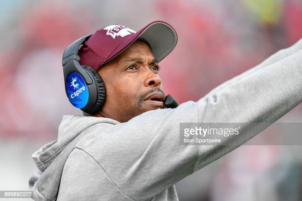 Mississippi State Bulldogs head coach Greg Knox during the second half of the TaxSlayer Bowl game between the Louisville Cardinals and the...