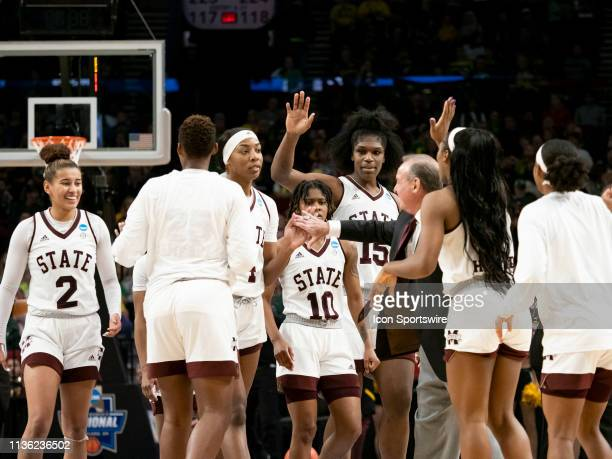 Mississippi State Bulldogs head coach Vic Schaefer calls a timeout during the NCAA Division I Women's Championship third round basketball game...