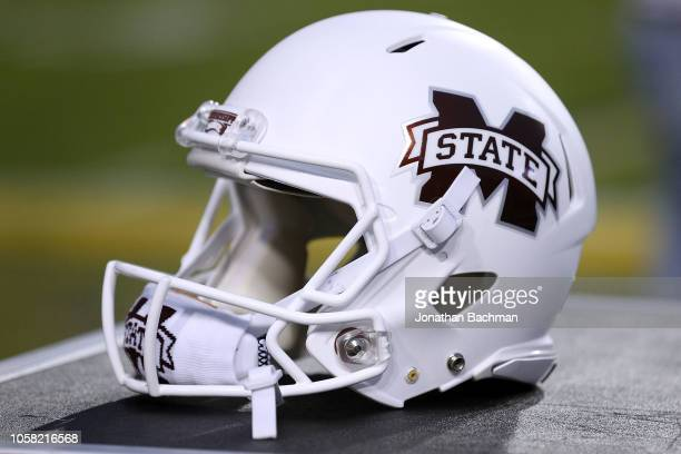 Mississippi State Bulldogs helmet is seen during a game against the LSU Tigers at Tiger Stadium on October 20 2018 in Baton Rouge Louisiana