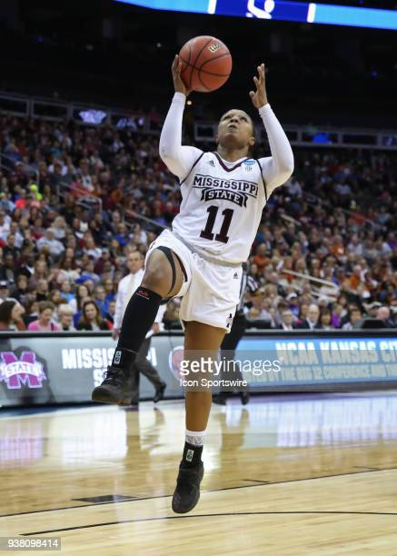 Mississippi State Lady Bulldogs guard Roshunda Johnson gets an easy layup in the fourth quarter of a third round NCAA Division l Women's Championship...