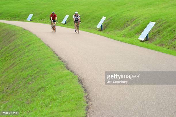 Mississippi Vicksburg National Military Park Civil War Battle Site Bicyclists