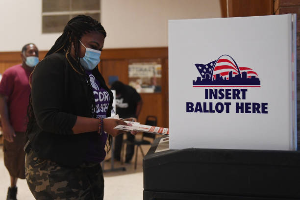 MO: Democratic Congressional Candidate Cori Bush Votes In Missouri's Primary Election