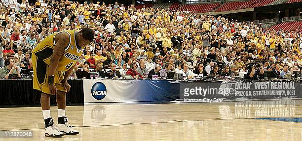 Missouri guard JT Tiller reacts after picking up his fifth foul during the Tigers 8275 loss to the University of Connecticut in the men's NCAA...