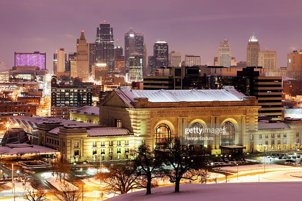 USA, Missouri, Kansas City, Cityscape at night : Stock-Foto
