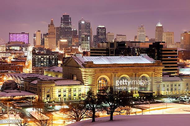 USA, Missouri, Kansas City, Cityscape at night