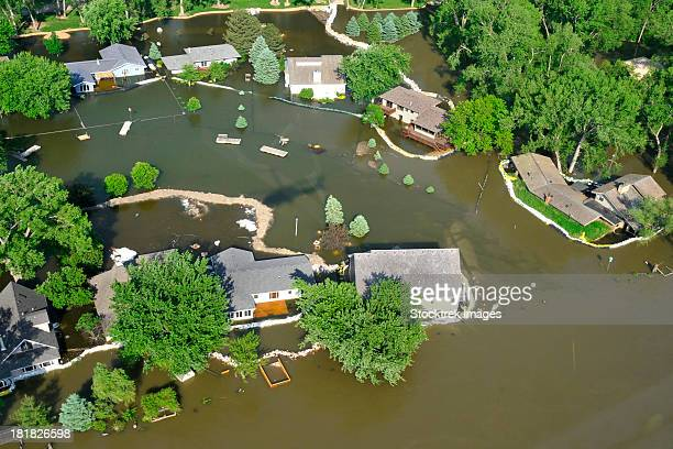 Missouri River encroaches on homes in Sioux City, Iowa.