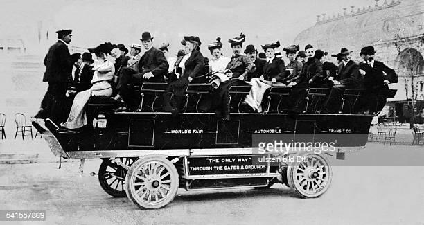 USA Missouri Saint Louis World Expo 1904 round trip through the exibiton in a omnibus Published by 'Berliner Illustrirte Zeitung' 1904Vintage...