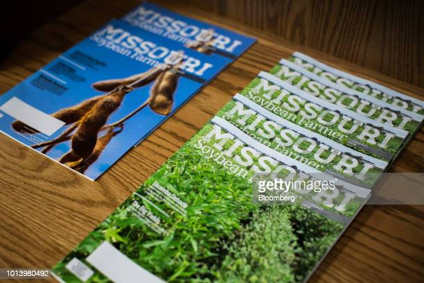 Missouri Soybean Farmer magazines sit in a pile at the Bay Farm Research Facility in Columbia Missouri US on Thursday July 19 2018 Grainpriceshave...