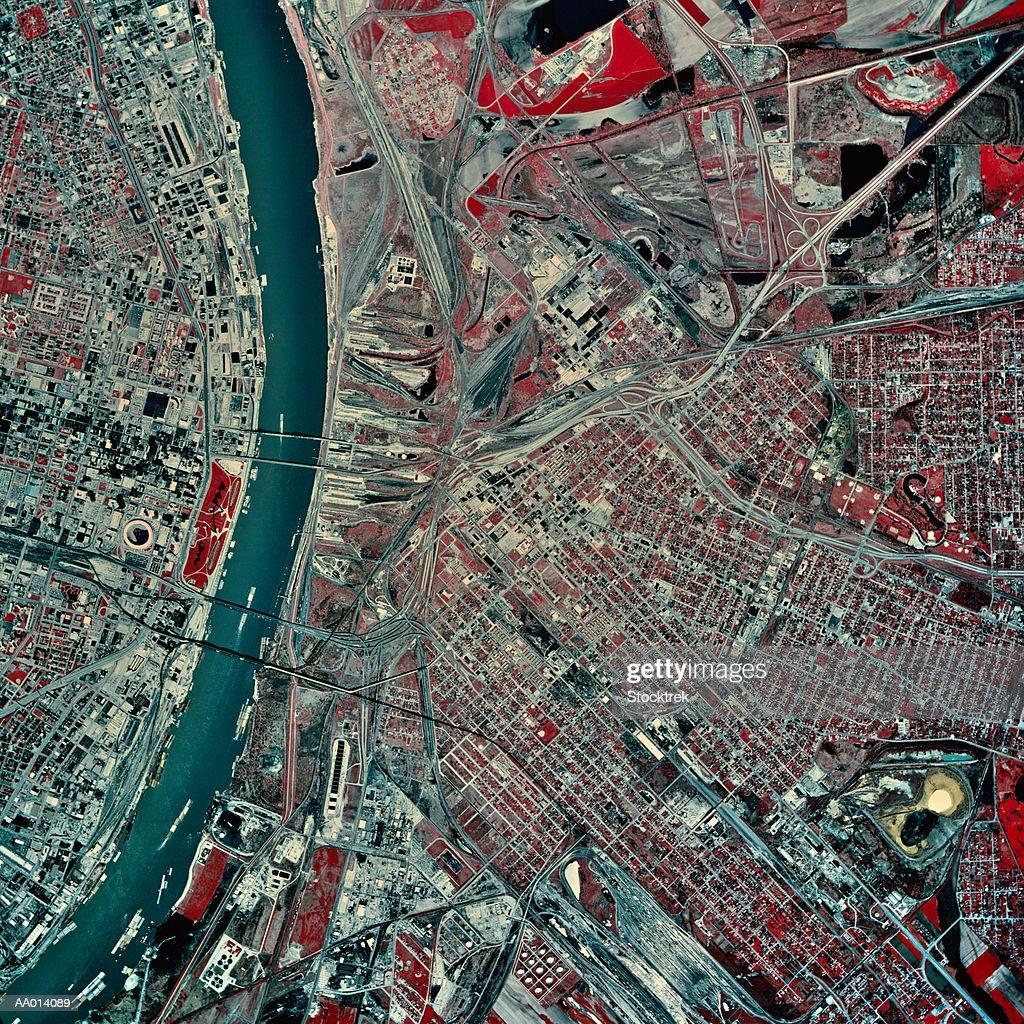 USA, Missouri, St. Louis, satellite image : Stock Photo