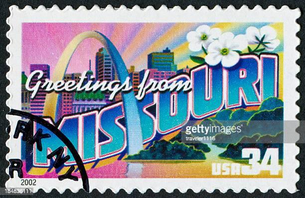 ミズーリ stamp - ゲートウェイアーチ ストックフォトと画像