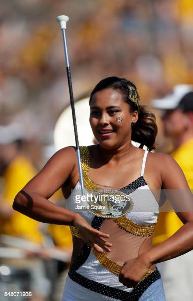 Missouri Tigers baton-twirler performs prior to the game against the Purdue Boilermakers at Faurot Field/Memorial Stadium on September 16, 2017 in...