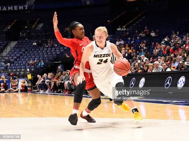 Missouri Tigers guard Jordan Chavis dribbles the ball against the Mississippi Lady Rebels during the third period between the Missouri Tigers and the...