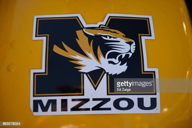 Missouri Tigers logo is seen on an equipment locker at Memorial Stadium on October 21 2017 in Columbia Missouri