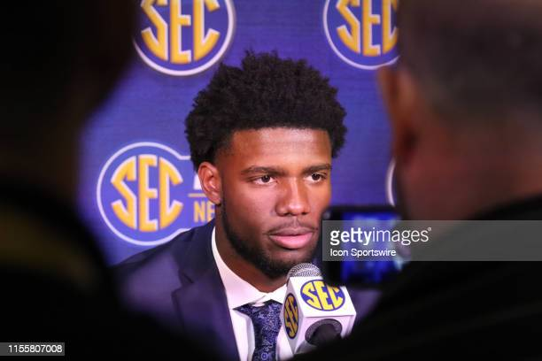 Missouri Tigers quarterback Kelly Bryant during the 2019 SEC Football Media Days on July 15 2019 at The Wynfrey Hotel in Hoover Alabama