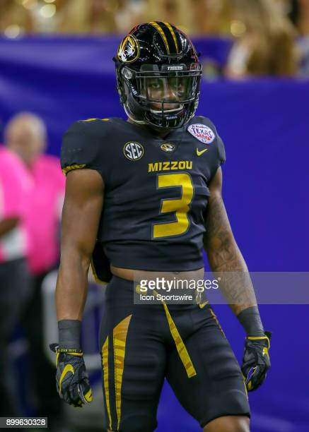 Missouri Tigers safety Ronnell Perkins warms up during the Texas Bowl game between the Texas Longhorns and Missouri Tigers on December 27 2017 at NRG...