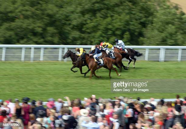 Missunited ridden by Jim Crowley wins the Sterling Insurance Lillie Langtry Stakes during day three of Glorious Goodwood at Goodwood Racecourse West...