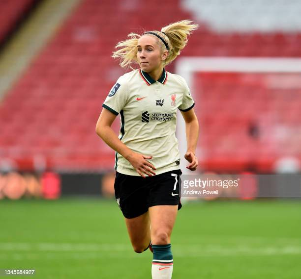 Missy Bo Kearns of Liverpool Women during the Barclays FA Women's Championship match between Sheffield United Women and Liverpool Women at Bramall...
